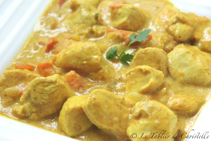 Poulet au curry le tablier de christelle - Cuisine poulet au curry ...